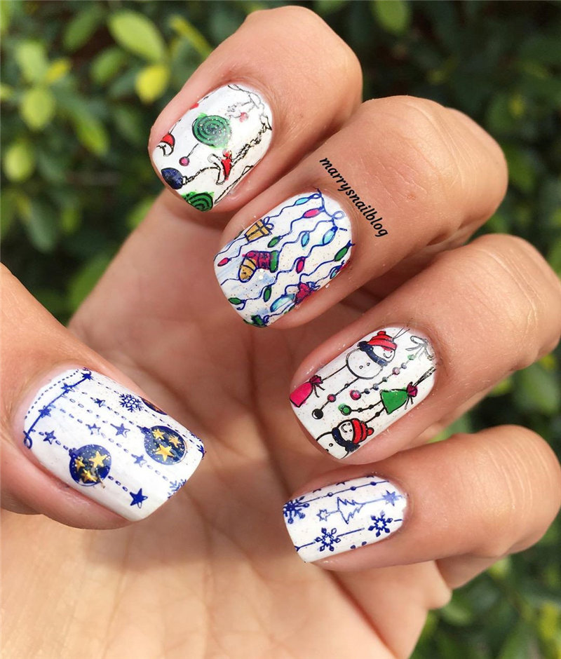 To give you some inspiration, we have found 50 white nail designs ideas. There are glitter white nail designs, coffin white nails, acrylic white nails ideas and more. So, take a look. | Soflyme.com