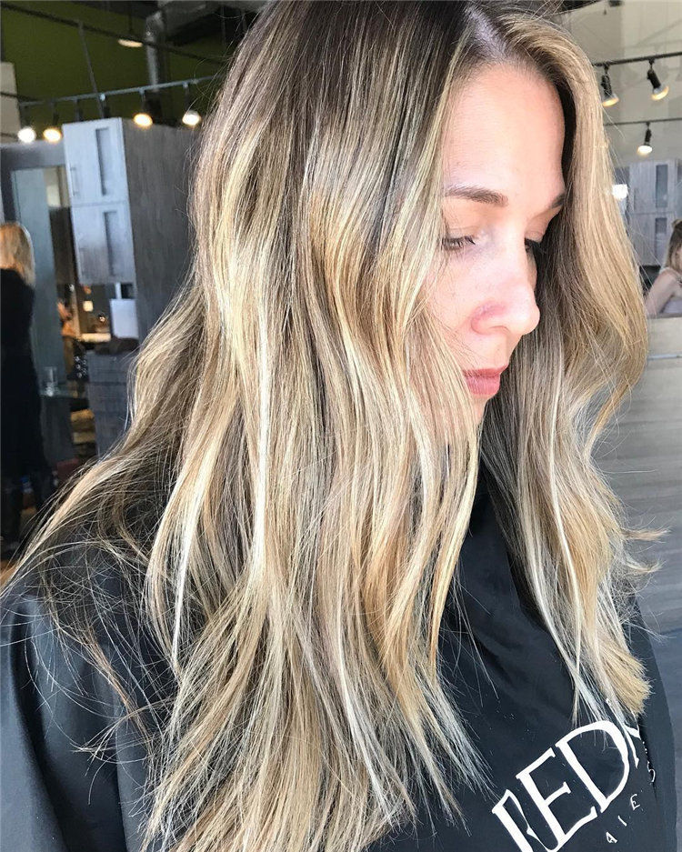 Latest Brown Hair with Blonde Highlights Ideas, #BlondeHighlights, #BlondeHair