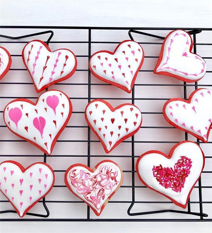 Easy Valentine's day Cookies Decorating Ideas, #valentinesDayCookies