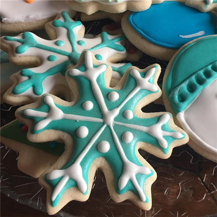 60+ Easy Snowflake Sugar Cookies Holiday Food Ideas 2019