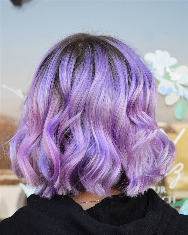 80 Chic Lavender Hairstyles Inspirations in 2021, #LavenderHaircut, #LavenderHairstyles