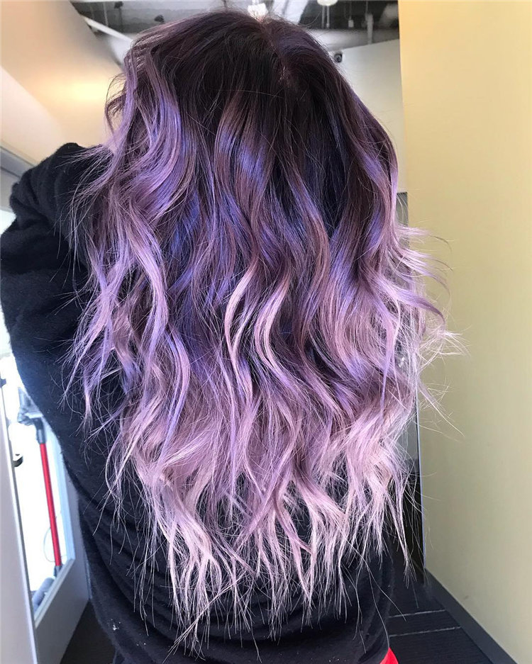 80 Chic Lavender Hairstyles Inspirations in 2019, #LavenderHaircut, #LavenderHairstyles