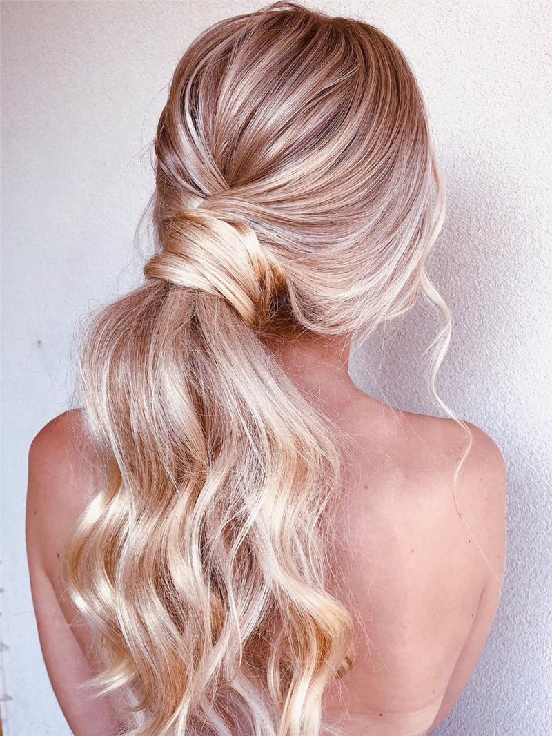 55 stylish and easy ponytail hairstyles, from glam to chic and simple. ponytail hairstyles suitable for any occasion, and it will always look stylish. Try and enjoy! | Soflyme.com