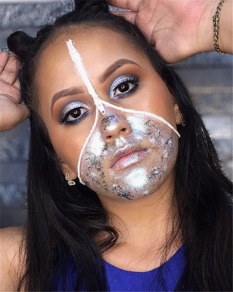 Are you searching for some Halloween makeup ideas? Then you are in the right place. We have handpicked the 80 amazing Halloween makeup ideas so that your costume would stand out. #HalloweenMakeup #HalloweenMakeupIdeas #Halloween