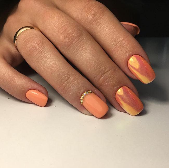 102 Easy Gel Polish Nail Art Ideas For Spring 2019