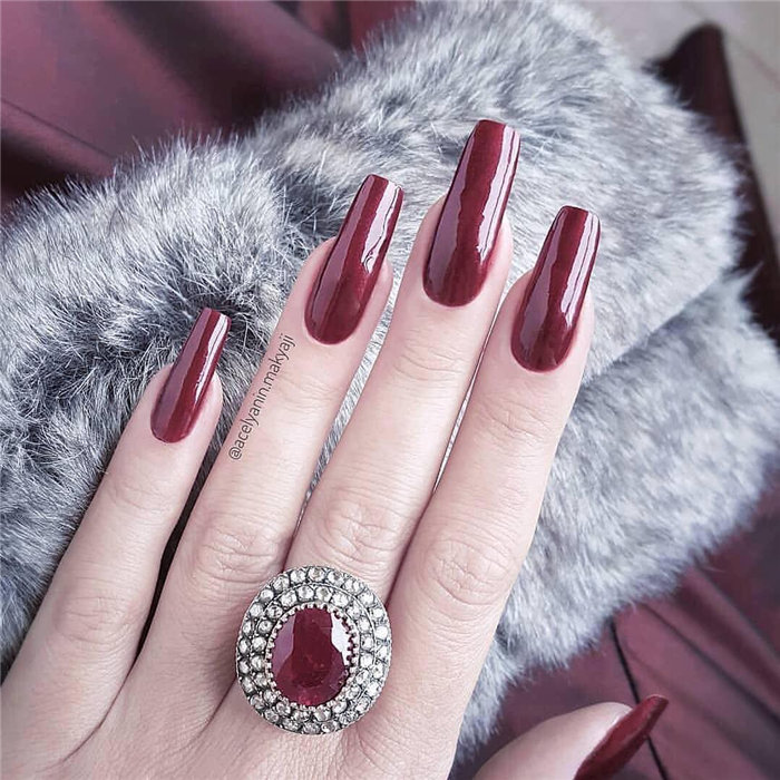 60+ Elegant Long Coffin Nails Ideas With Different Colors to Inspire Your Heart