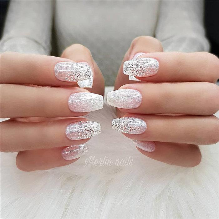 Wedding Natural Gel Nails Design Ideas for Bride 2019, #WeddingNails, #NaturalGelNails, #BrideNails, #GelNails