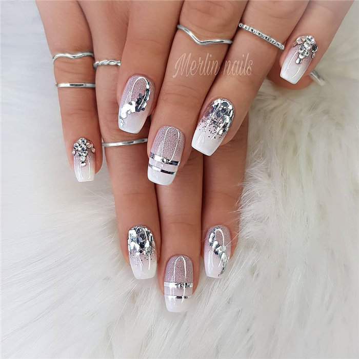 Crystal nails beautiful manicure ideas 2018 - Styles Art