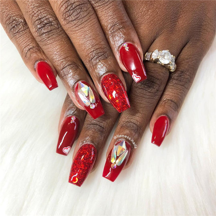 Valentine's Day Nail Design Ideas, #Valentines Nails