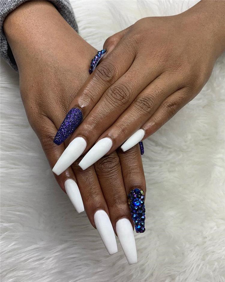 Trendy Matte White Nails Designs Inspirations, #MatteNailsDesigns, #WhiteNailsDesigns, #NailsDesigns