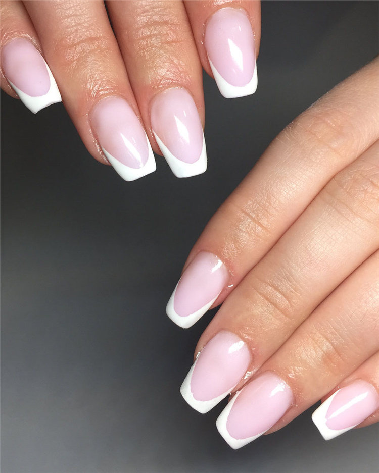 70+ Hottest French Nails Design Inspirations in 2019 - Soflyme