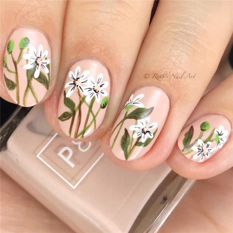 Floral Nail Designs For Spring In 2019 Page 77 Of 82 Soflyme