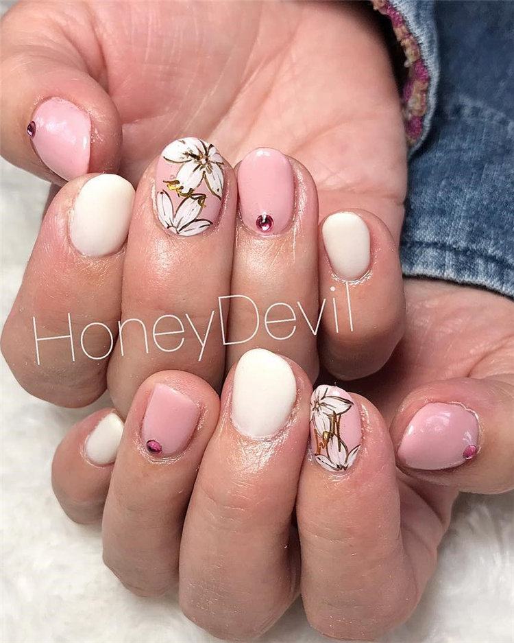 Sweet Pink Nails Designs Ideas to Look Girly and  Worth to Try 2021, #PinkNails, #PinkNailsDesigns