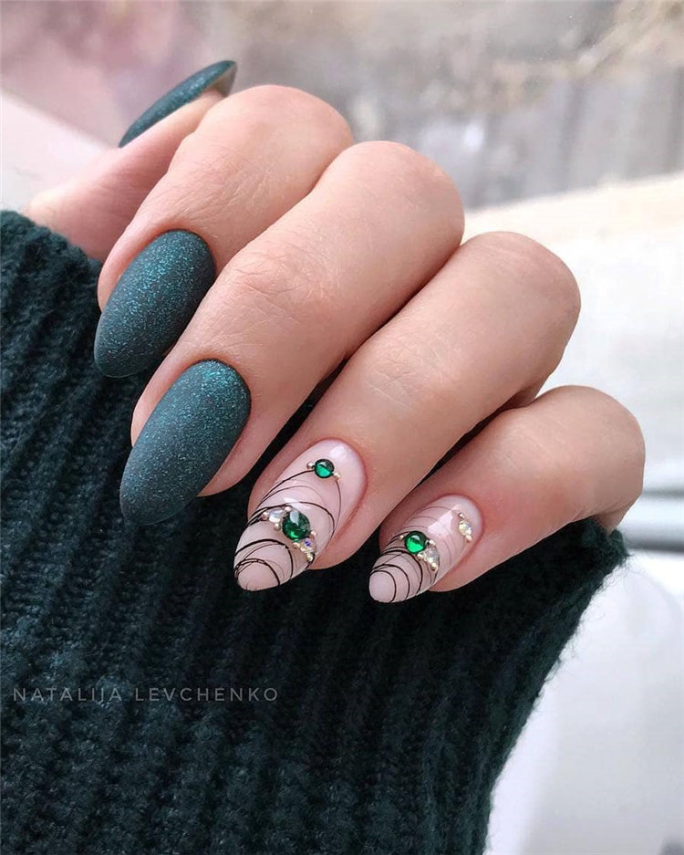 90+ Pretty & Easy Gel Nail Designs to Copy in 2019, #GelNailDesigns, #GelNails