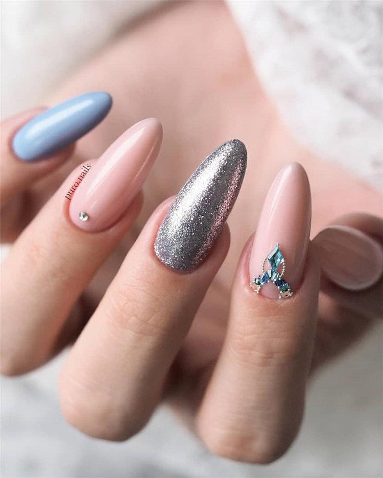 90+ Pretty & Easy Gel Nail Designs to Copy in 2019, #GelNailDesigns, #GelNails