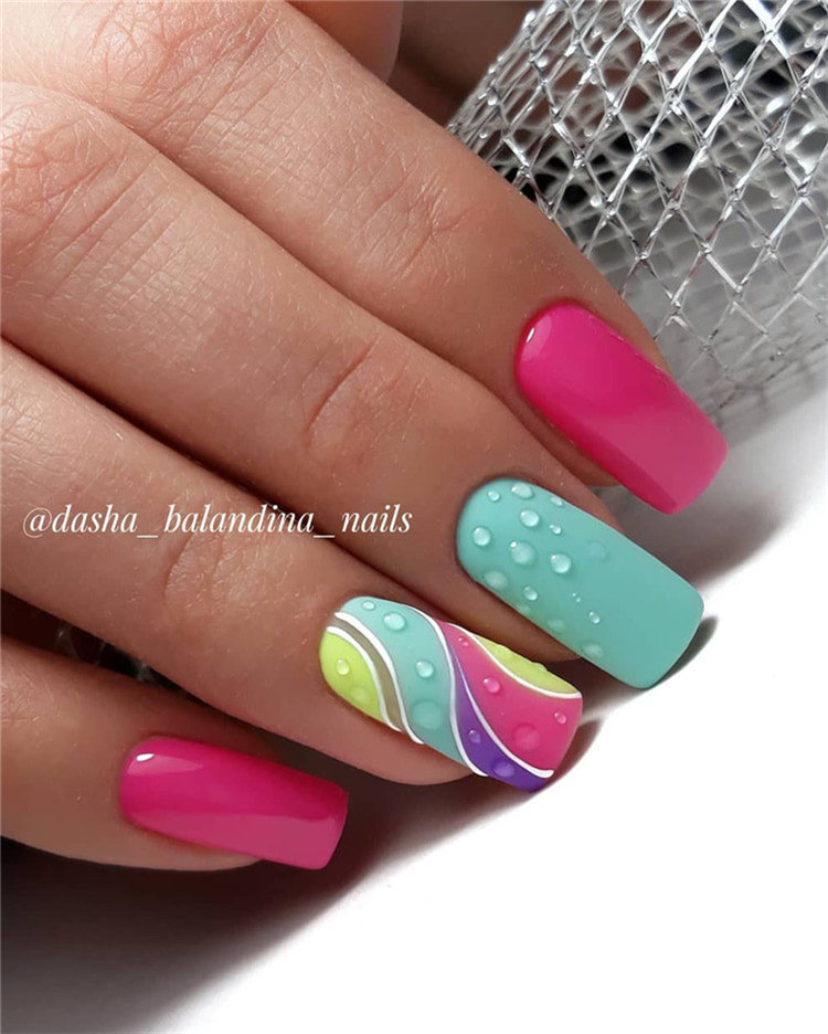 60+ Spring Nail Ideas For Exceptional Look 2020 , Soflyme