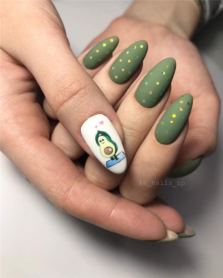 Nail Design Ideas for Acrylic Glitter Gel Nail