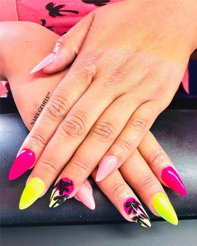 Summer Nail Color Designs Ideas For Exceptional Look 2021