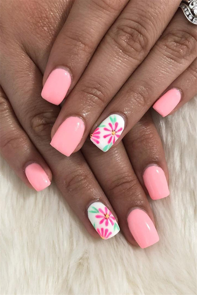 Stylish Acrylic Nail Art Design Ideas That You Can Try This Year; Nails; Acrylic Nails; Nail Art; Square Nails; Square nails Short; Square Nails Long; Square Nails Acrylic #SquareNails #Nails; NailsDseigns; AcrylicNails