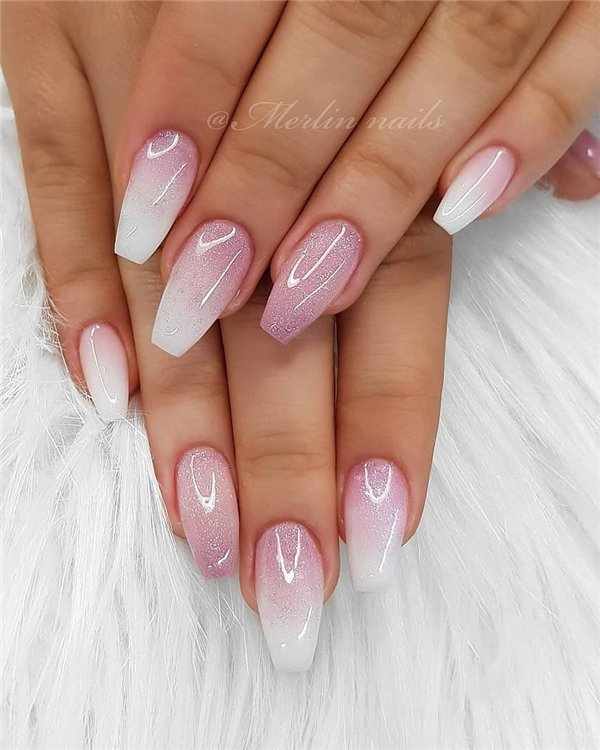 Nature Ombre Nails - Thinking of make Ombre nail art? Then you've come at the right place! Here, we collected 50+ best Ombre nail designs ideas, to inspire your next nails design. #OmbreNails