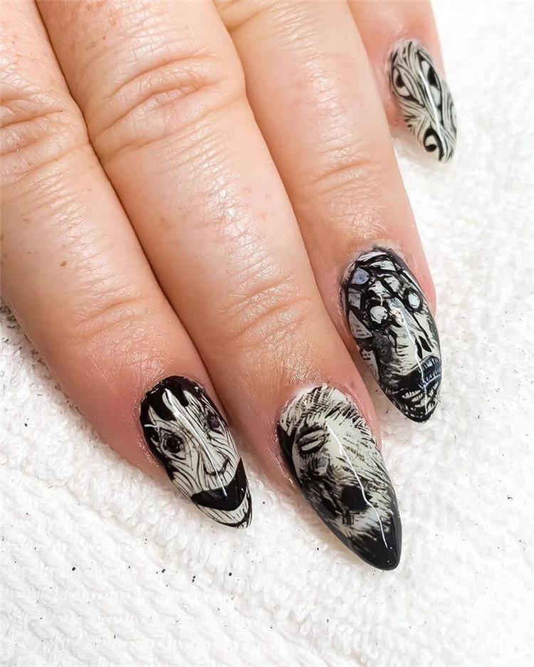 Looking for Halloween nails design ideas for your Halloween this year? We have provided you with more than 100 easy and cool Halloween nails design ideas. Check out these wonderful Halloween nails design ideas and try it out for yourself! #HalloweenNails #HalloweenNailsDesign