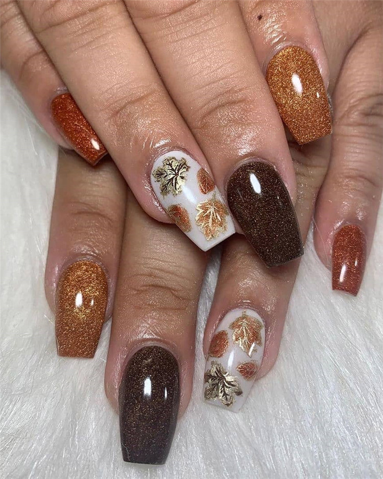 Here, 120 Latest fall nails design Ideas. There some ideas for you whether you want to look glamorous, edgy or elegant. You will find glitter nails, ombre nails, matte nails and more. #FallNails #NailsFall #NailDesigns #NailArt