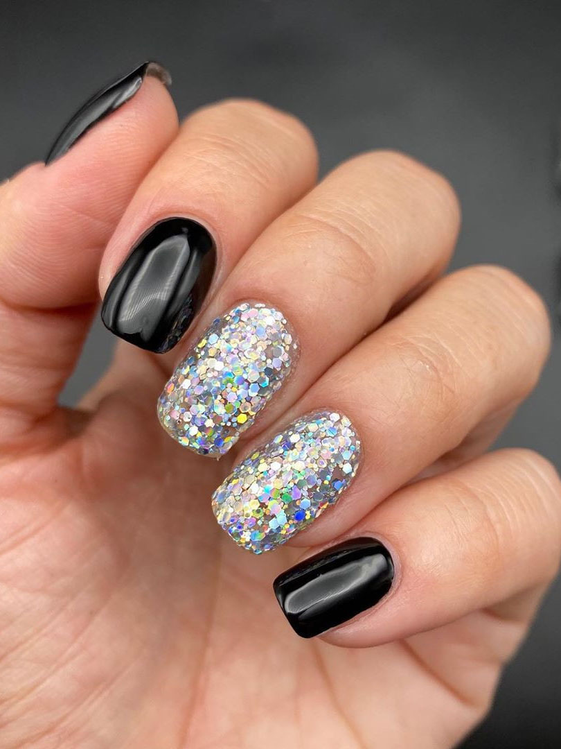 100 Easy Acrylic Winter Nails and Color Ideas 2019 , Soflyme