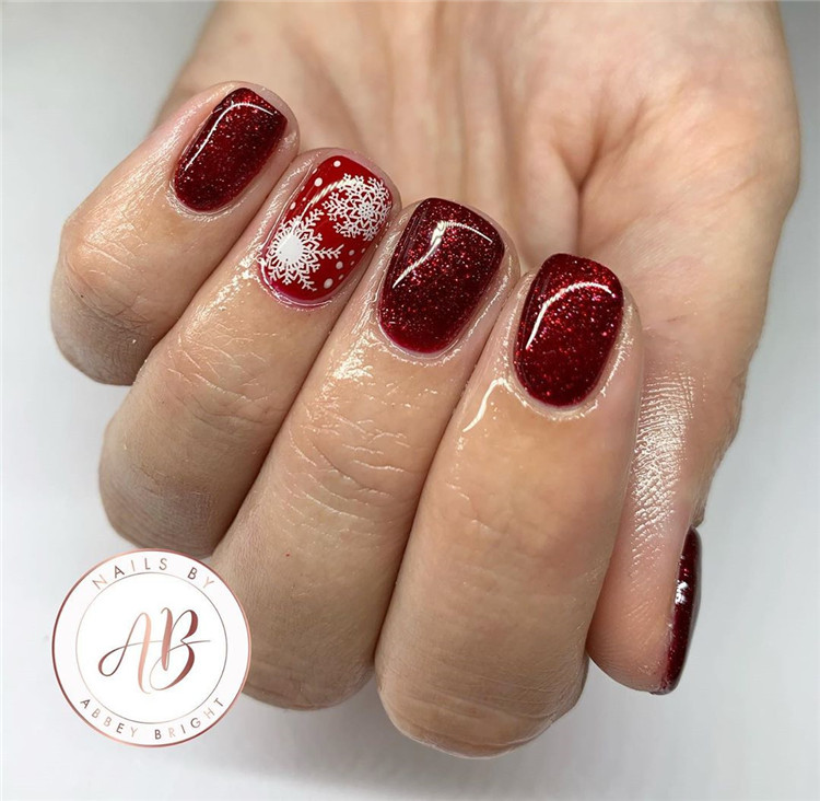90 Gorgeous Festive Christmas Nails Ideas, Christmas Nails, christmas nails acrylic, christmas nails design, christmas nails acrylic holiday, christmas nails easy, christmas nails gel glitter