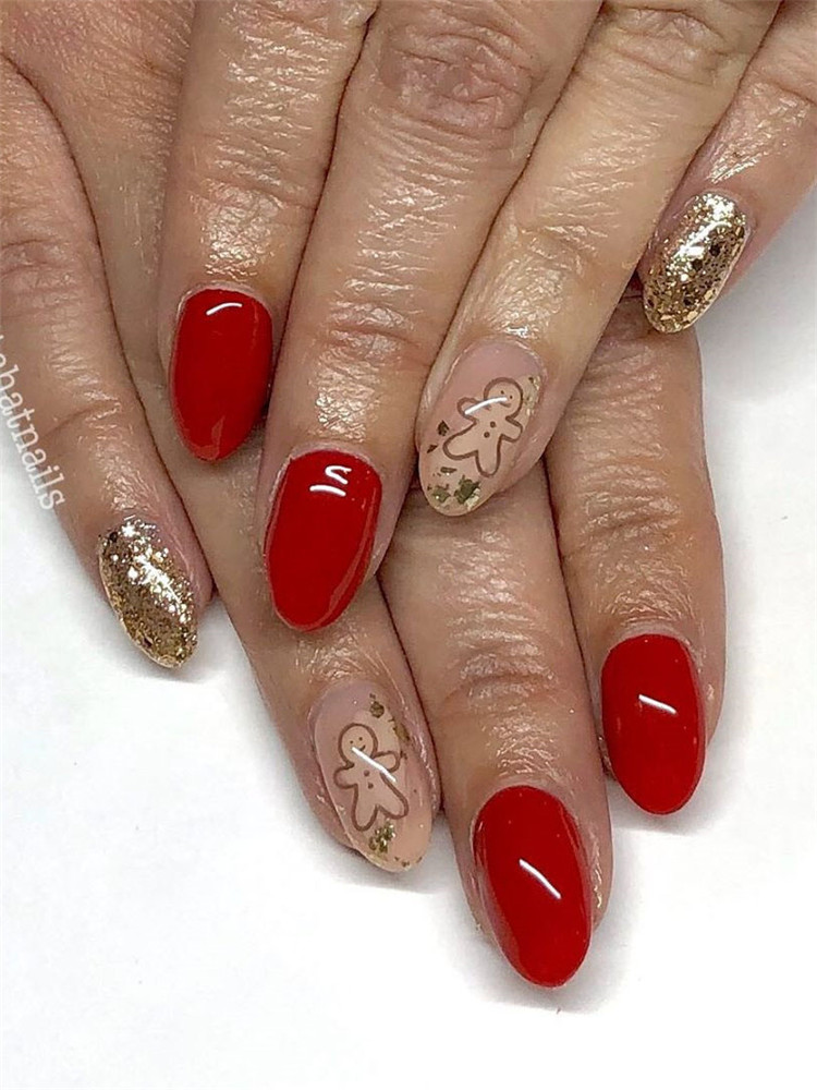 90 Gorgeous Festive Christmas Nails Ideas Soflyme