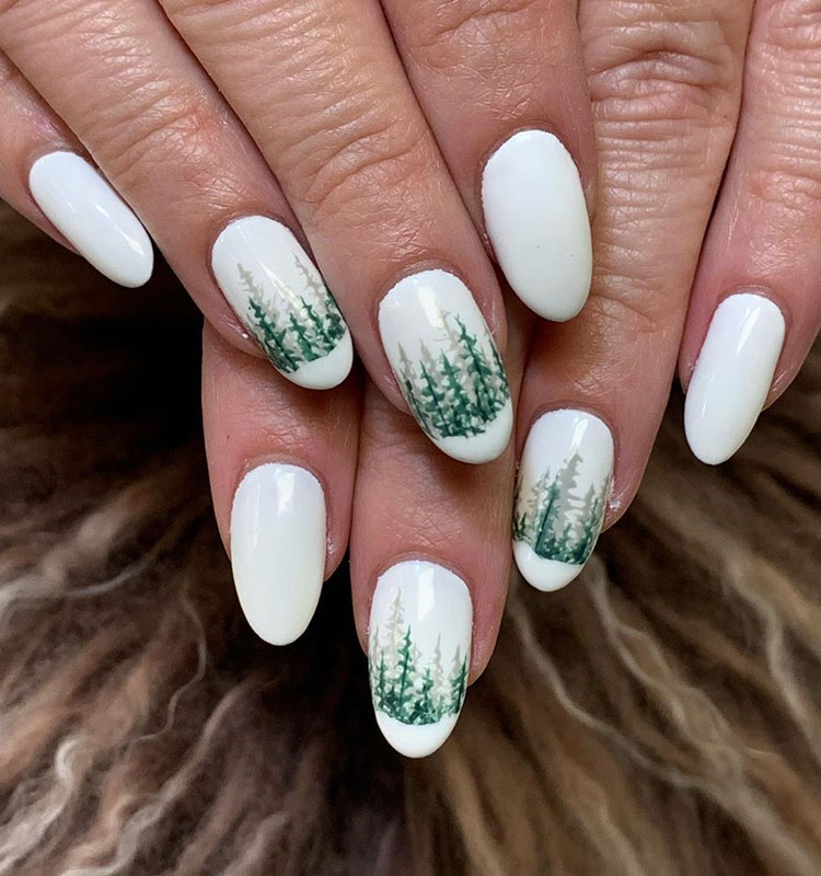 90 Gorgeous Festive Christmas Nails Ideas, Christmas Nails, christmas nails acrylic, christmas nails design, christmas nails acrylic holiday, christmas nails easy, christmas nails gel glitter