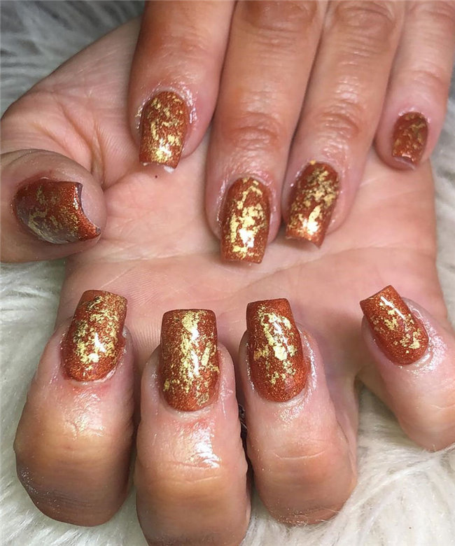 Fall Nail Designs - Looking for Diy fall nails idea too? We have gathered up 40 fall nail design ideas. You are going to absolutely love these Fall Nail Designs  and most of them are so simple to make! #FallNails #NailsArt