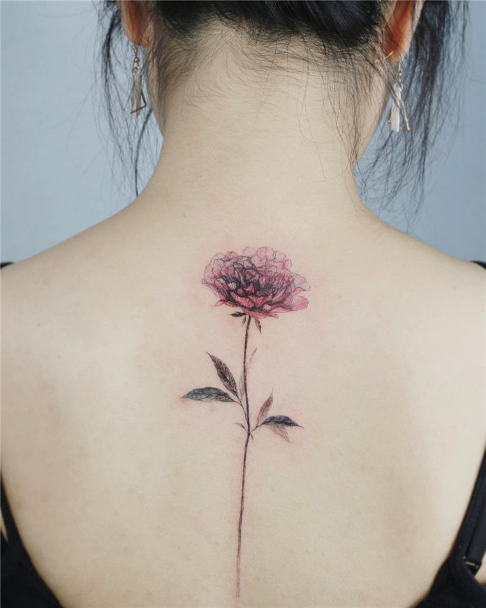 Cute Flower Tattoos for Women 2019, #FlowerTattoos, #RoseFlowerTattoos,