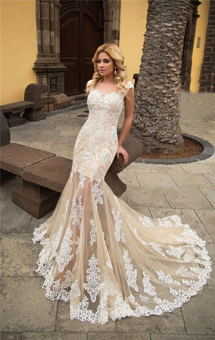 Lace Wedding Dresses Inspiration for Bridal 2021, #WeddingDresses, LaceWeddingDresses