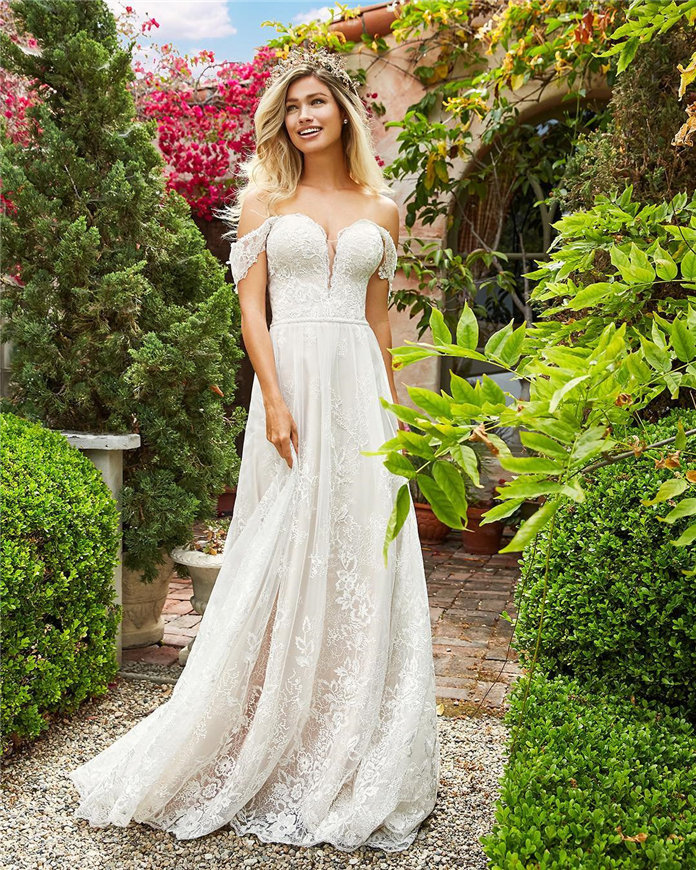 Lace Wedding Dresses Inspiration for Bridal 2019, #WeddingDresses, LaceWeddingDresses